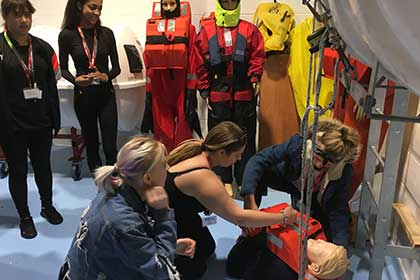 Sea Survival Skills at Viking Recruitment