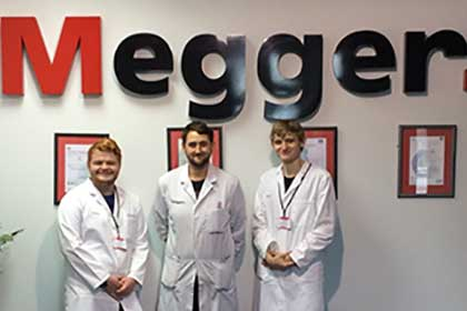 Engineering work experience at Megger